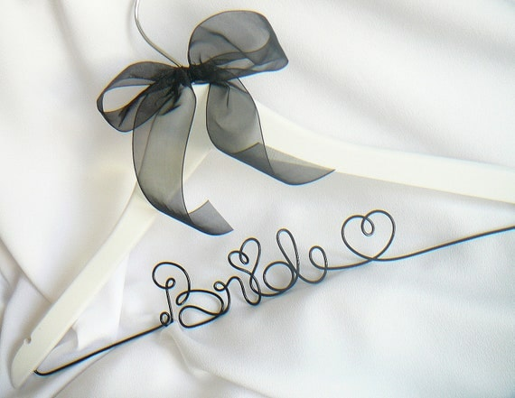 Engagement Gift Bride, Wedding Hanger With Ribbon