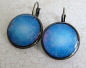Space Earrings, Galaxy Earrings, Astronomy Earrings, NASA Earrings, Geeky Earrings, Nerdy Earrings, Leverback Earrings