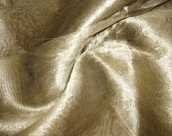 Dull Golden Color Tissue Silk