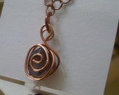 Spiral Caged Amethyst Pendant