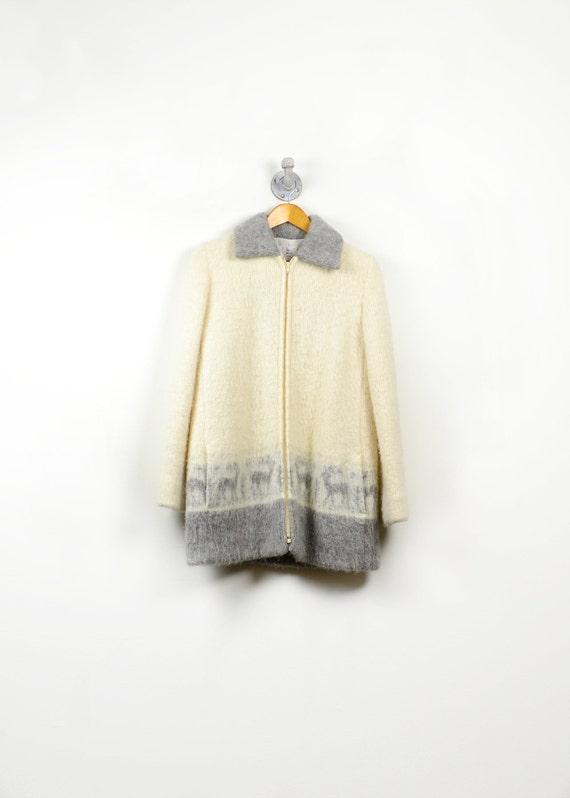 Vintage Wool Coat -  Winter Jacket - Made in Iceland - Size Medium - Reduced