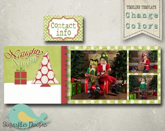 Christmas Facebook Timeline PHOTOSHOP TEMPLATE - Timeline 34