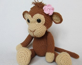 Sweet Monkey Julie - Amigurumi Crochet Pattern / PDF e-Book / Stuffed Animal Tutorial