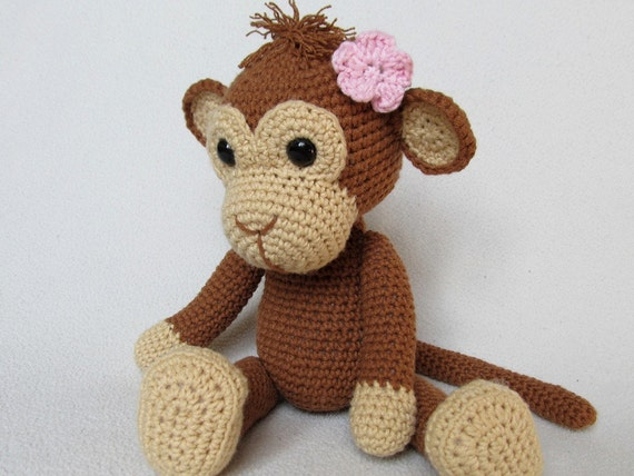 Amigurumi Animals For Beginners : Sweet Monkey Julie Amigurumi Crochet Pattern / PDF by ...