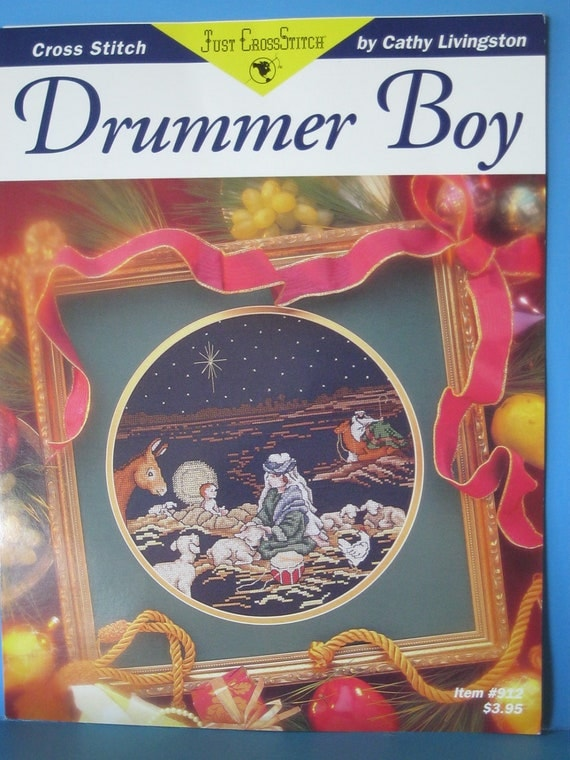 Christmas Counted Cross Stitch Pattern Booklet, Drummer Boy  New never used