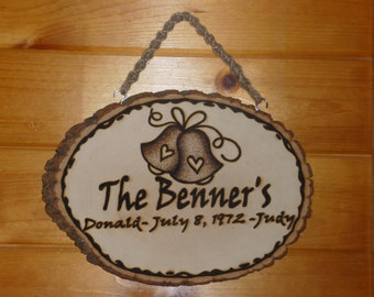 Custom Made-To-Order WEDDING Plaque/Sign Marriage
