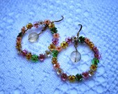 RESERVED: Flower Lei Hoop Earrings