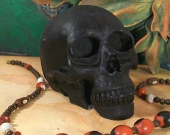 BLACK Skull Beeswax Skull Candle