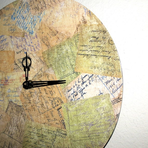 Vintage Chic Clock, Home and Living, Decor and Housewares, Home Decor, Eco Friendly Decor, Unique Gift,  Ready To Ship