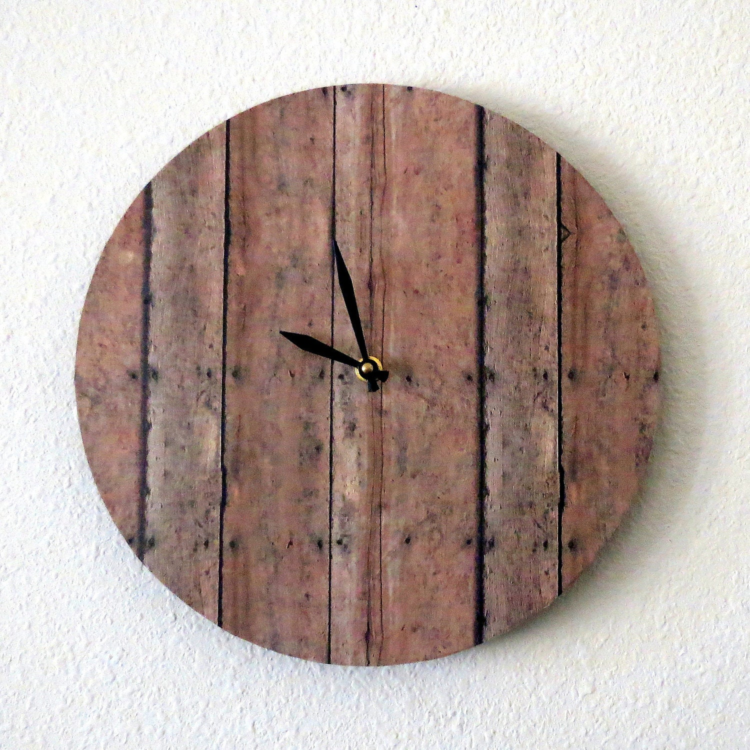 Unique Wall Clock Wood Print Decor And Housewares By