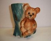 Royal Copley Honey Bear Vase