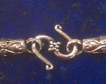 Pewter  3 piece End Cap and S Hook Clasp Set