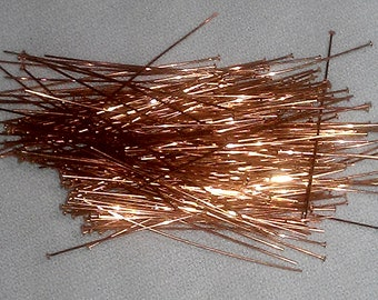 1 1/2 Inch x 24 Gauge Solid Copper Head Pins