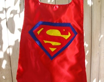 Boys Reversible Personalized Super Hero Cape: Superman