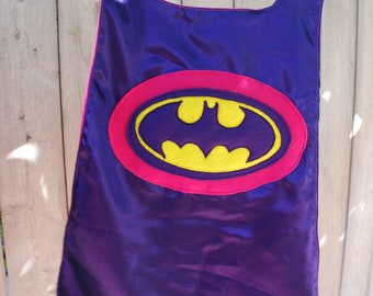 Custom Girls Reversible Super Hero Cape: Batgirl