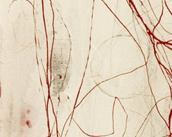 RGCIV3.2012No.17 ABSTRACT / CONCEPTUAL/red white/large original panel art