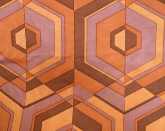 """Upholstery fabric in warm colors, 1 yard, 50"""" wide, Honeycomb pattern"""