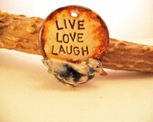 Live Love Laugh  bird pendant