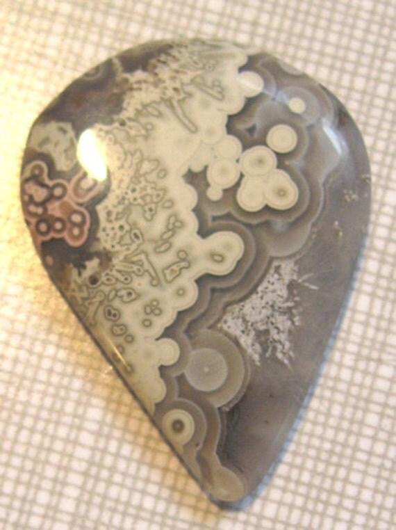 Hand Cut Stone Agate Guitar Pick