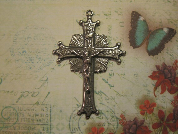 Sterling Silver Crucifix Crown Points