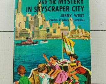 The Happy Hollisters In Skyscraper City by Jerry West New York Book