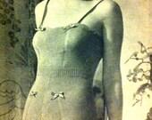 40s style- Siren one piece camisole - bedroom knit-  Australian knitting Epattern (PDF) b32