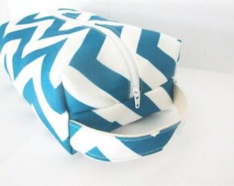 Cosmetic Bag - Chevron Makeup Bag - Lined Make up Bag - Cosmetic Pouch - Waterproof Bag - Lunch Bag - Wet Bag - Diaper Bag