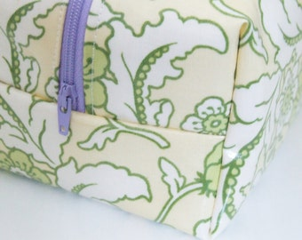 Waterproof Makeup Bag - Floral Cosmetic Bag - Heather Bailey Fabric
