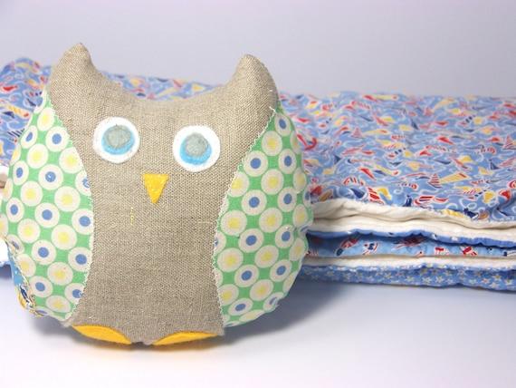 Owl Stuffed Animal and Blanket Set - Baby Shower Gift
