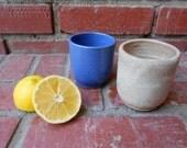Set of 2, Baby Pastel Kids Juice Cups, Light Purple Heather Blue and Light Yellow