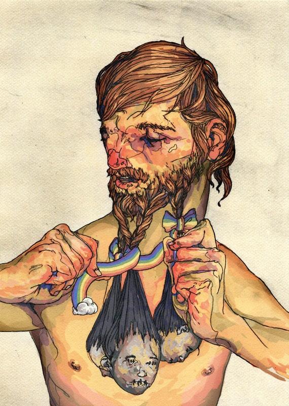 Beard Weaver - 9x12 Print