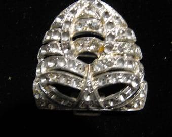 Destash Vintage Rhinestone Paste Brooch Jewelry For Creating A Treasure