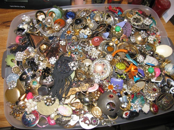 9 Pounds Destash Craft Lot of Vintage Jewelry Earrings To Create Treasures