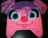 "Crochet Hat, ""Abby Cadabby"" inspired Earflap Hat, Made to Order"