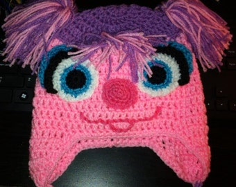 """Crochet Hat, """"Abby Cadabby"""" inspired Earflap Hat, Made to Order"""