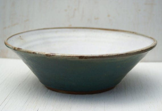 Pottery Serving Bowl Salad Bowl Pasta Bowl Handmade Wheel-Thrown Stoneware by Curly Girlie Pottery