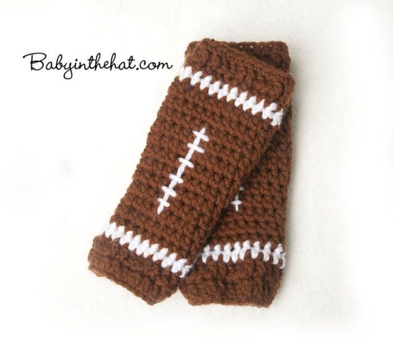 Football Crochet Leg Warmers Photo Prop Leggings