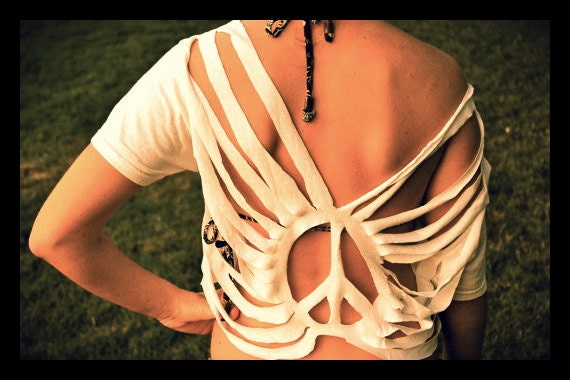 CUSTOM Boho Cut Top - Swim Suit Cover