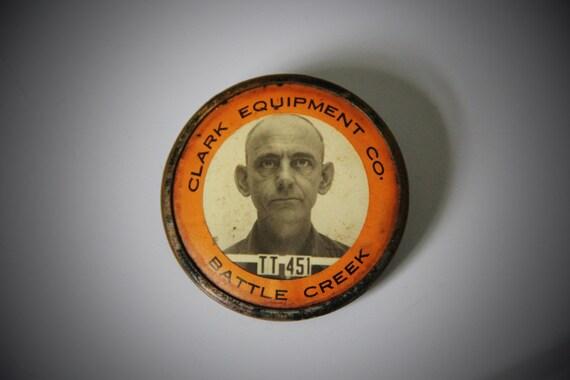WWII Worker Photo ID Employee Badge Whitehead Hoag Clack Equipment