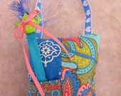 Sweet Sleep Pillow - with magic wand and sleep spell / poem - for little people who won't sleep - Blue colours