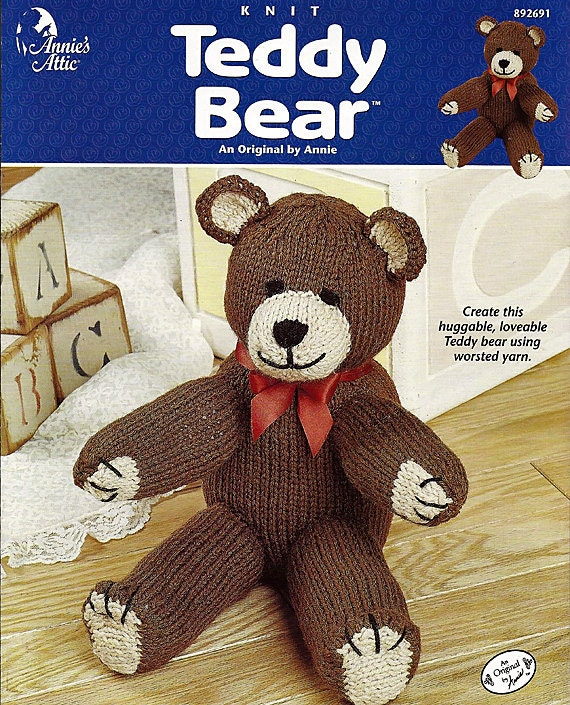 Knitted Teddy Bear Pattern Books : Teddy Bear Knit Pattern Book Annies Attic 892691
