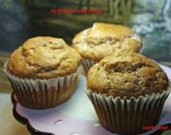 Vegan Cinnamon pecan muffins, love,natural,healthy,wedding,birthday.