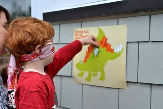 Pin The Tail On The Dinosaur Dino-Mite Party Printables