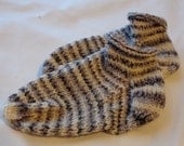 Black, Grey, & White Knitted Baby Socks or Booties