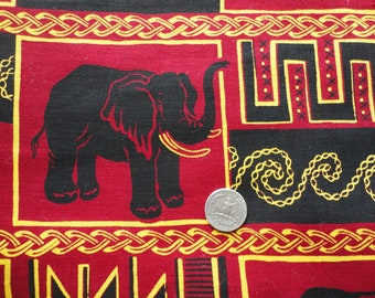 elephants novelty print cotton fabric -- 44 wide by 3 yards