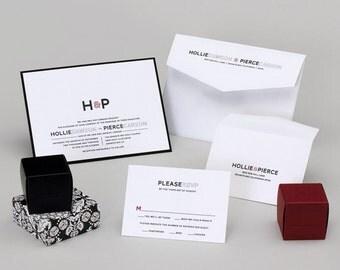 Wedding Invitations -Black and White