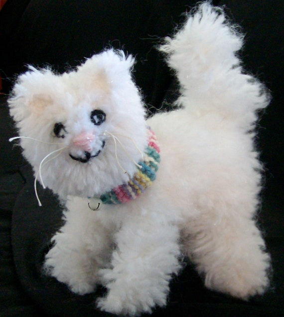 Honey Kitty the knitted stuffed cat :-) Now on SALE