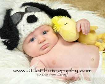 Snoopy Hat with Pilot Goggles