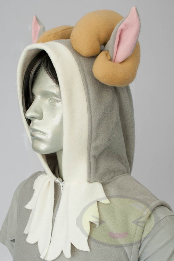 Sheep Hoodie, Costume, Cosplay, Adult Size, Hand-made