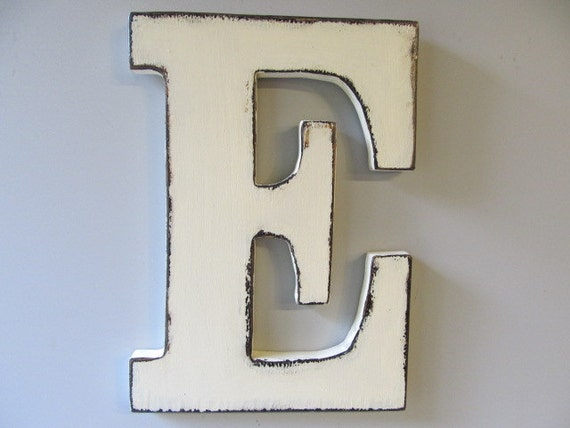Large Decorative Wooden Letters: Items Similar To Custom Made Large Wooden Letters Rustic